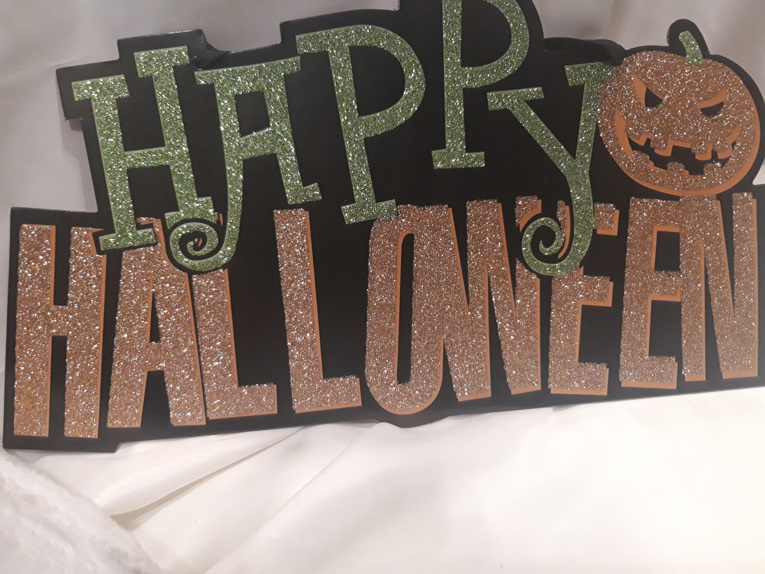 Plaque happy haloween