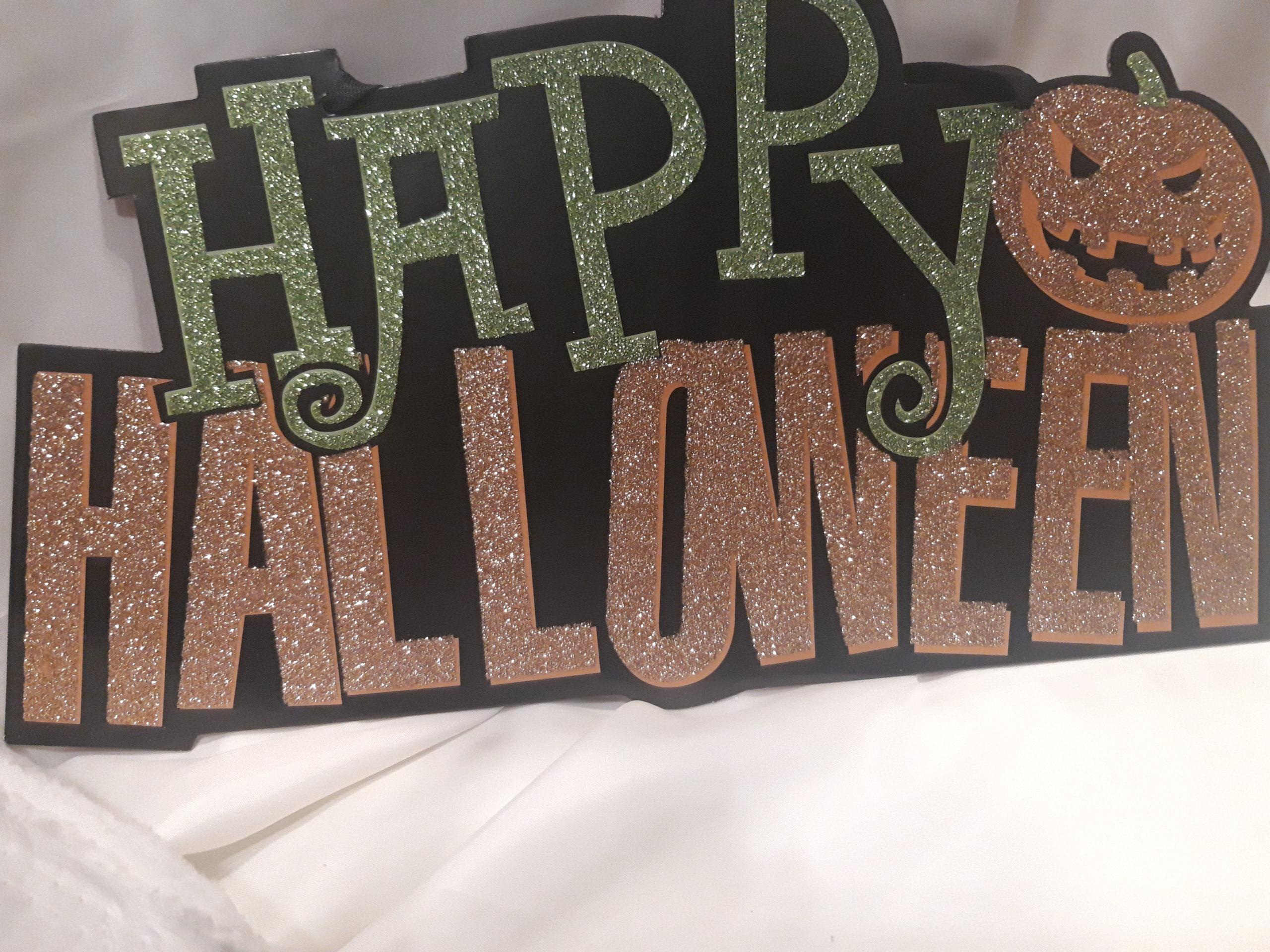 Plaque happy haloween